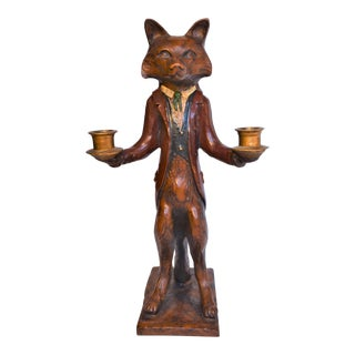 Vintage Bill Huebbe Red Fox Candalabra For Sale