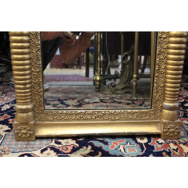 Art Nouveau Gold Two Section Mirror For Sale - Image 4 of 9