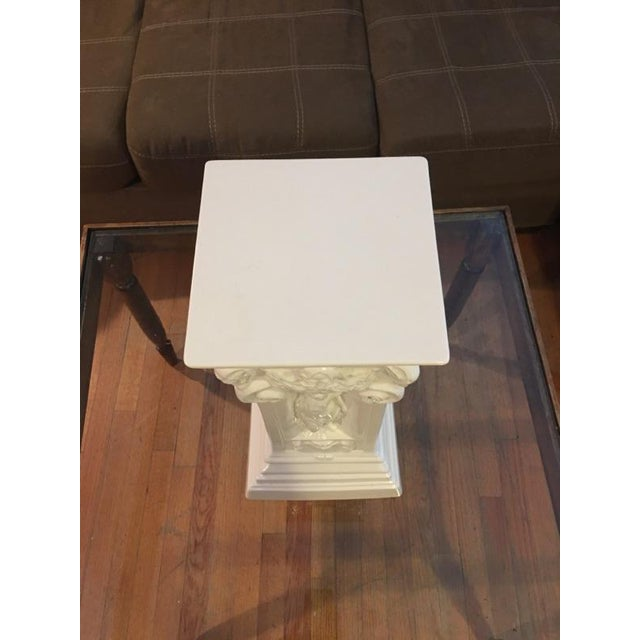 Vintage White Greek Pedestal Column - Image 5 of 7
