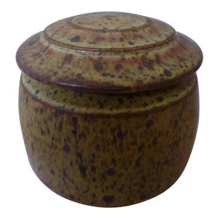 Mid Century Studio Pottery Cookie Jar
