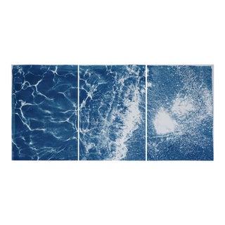 Tulum Pleasant Waters Cyanotype Triptych For Sale