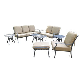 Magnificent Darlee Cast Aluminum Table Chair Patio Set Set Of 11 Home Interior And Landscaping Spoatsignezvosmurscom