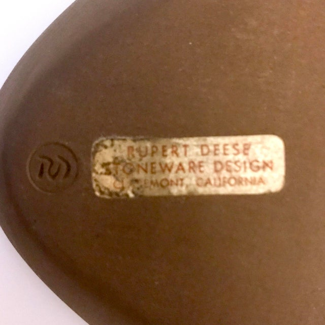 Mid-Century Rupert Deese Stoneware Triangular Ashtray For Sale - Image 10 of 11