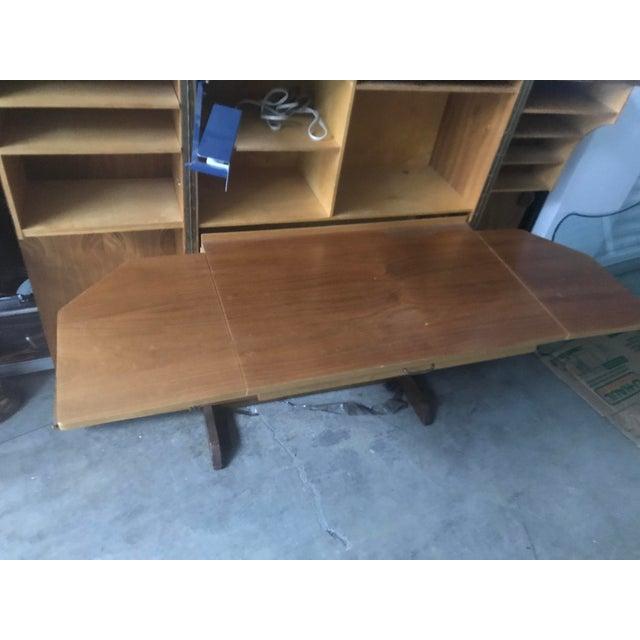 Wood Danish Modern Wooten Style Secretary Desk For Sale - Image 7 of 11