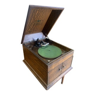 1910s 1915 Antique Victorian Table Top Rca Victor Victrola 100665 Vv-Viiia For Sale