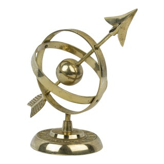 Brass Armillary Sphere Sundial Figure For Sale