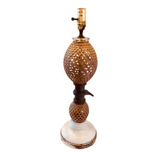 Vintage used french country table lamps chairish french antique seltzer siphon bottle table lamp mozeypictures Choice Image