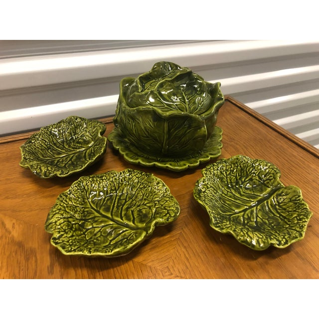 Holland Ceramics Cabbage Soup Tureen With Sharable Plates - 4 Pieces For Sale - Image 12 of 12