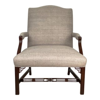 Chippendale Style Armchair, England Circa 1900 For Sale