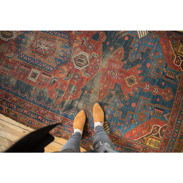 "Antique Hamadan Rug - 4'9"" X 7'11"" - Image 10 of 13"