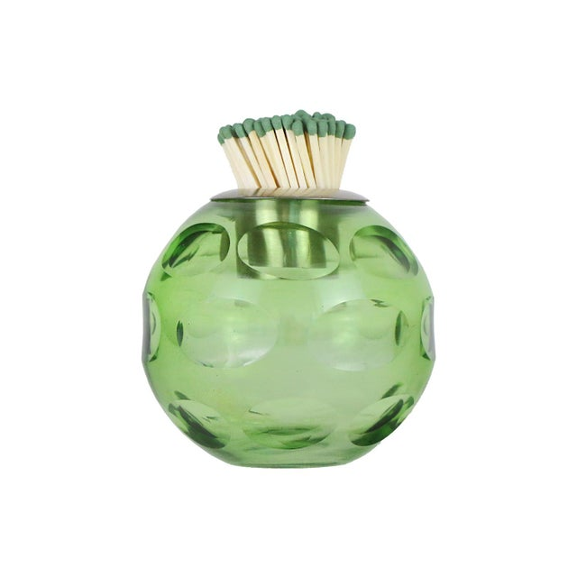 Traditional Glass Match Striker, Green For Sale - Image 3 of 3