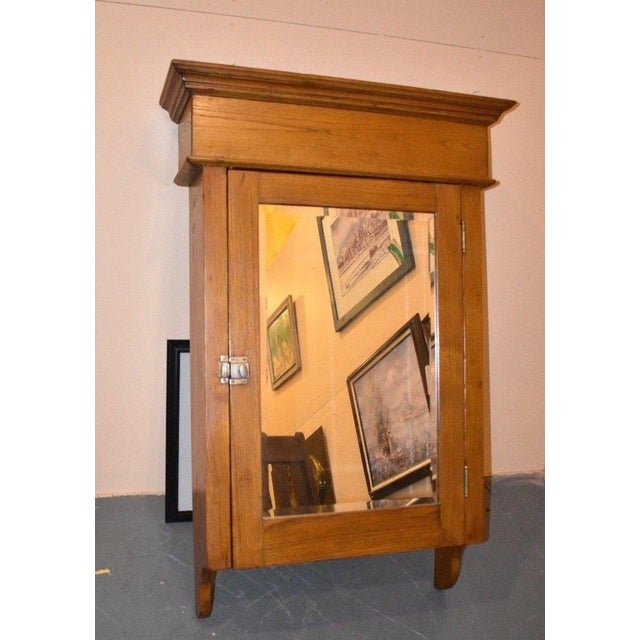 Huge Antique Wall Medicine Cabinet Primitive Display Mirrored Cupboard For  Sale - Image 6 of 6 - Huge Antique Wall Medicine Cabinet Primitive Display Mirrored