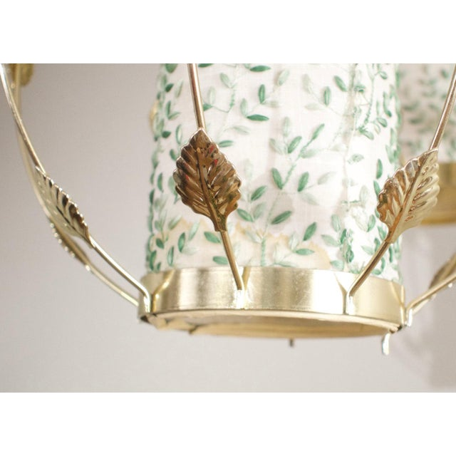 Vintage Mid-Century Gold Tension Pole Lamp For Sale In Dallas - Image 6 of 9