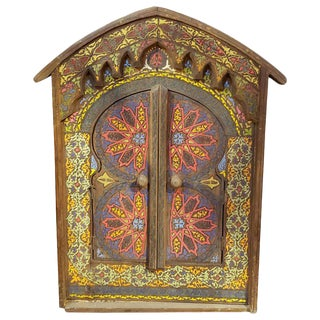 Moroccan Zouak Repurposed Wooden Frame Mirror For Sale