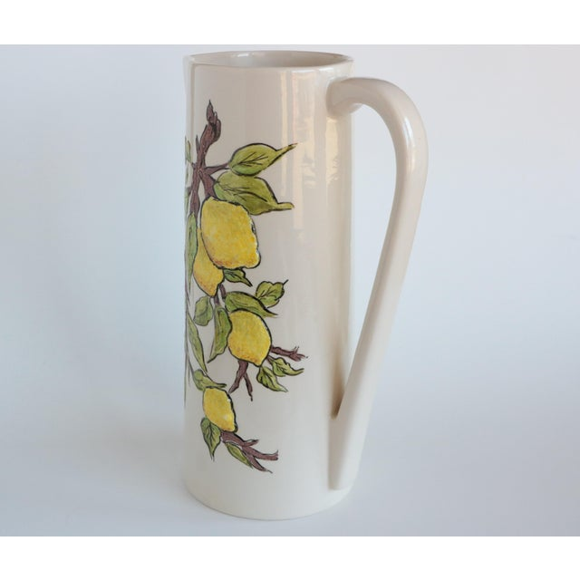 Ceramic Lemon Branch Pitcher and Tumblers - Set of 6 For Sale - Image 7 of 11