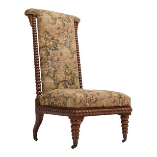 19th Century Vintage English Spool Chair For Sale