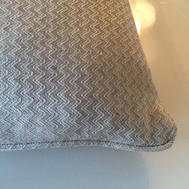 Nobilis Chevron Patterned Pillows - A Pair - Image 8 of 8