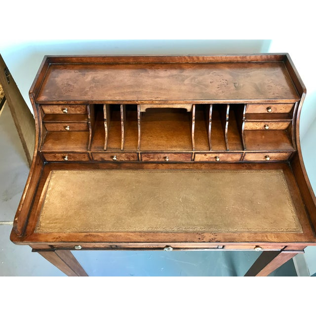 Traditional Vintage Ethan Allen Writing Desk For Sale - Image 3 of 8