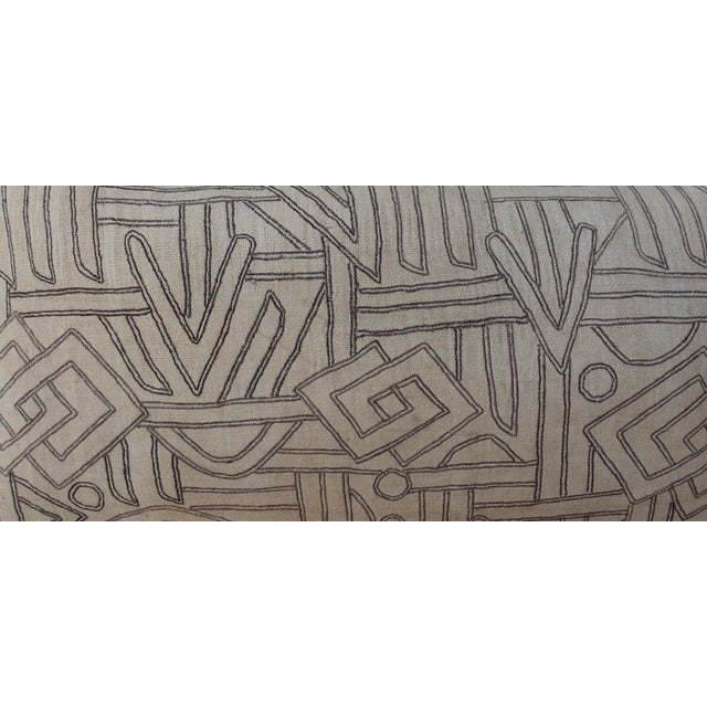 Geometric Kuba Cloth Pillows - A Pair For Sale - Image 4 of 10