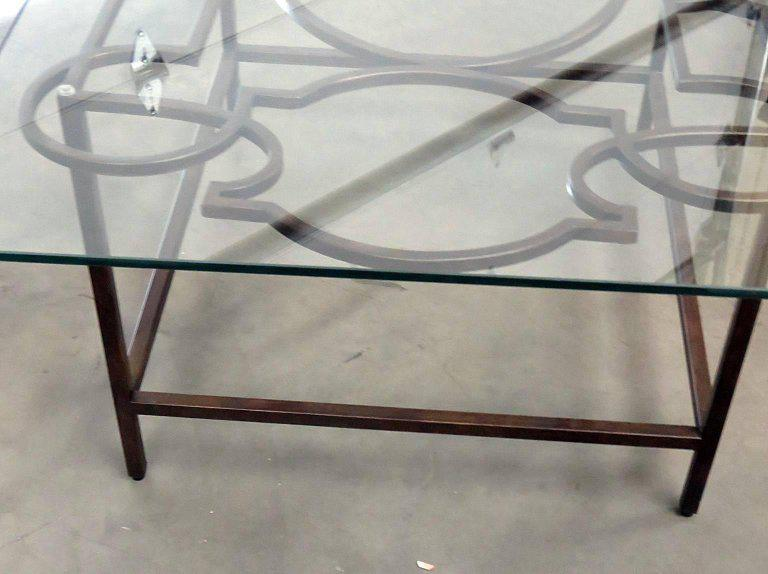 Jonathan Charles Industrial Style Coffee Table For Sale In Philadelphia    Image 6 Of 7