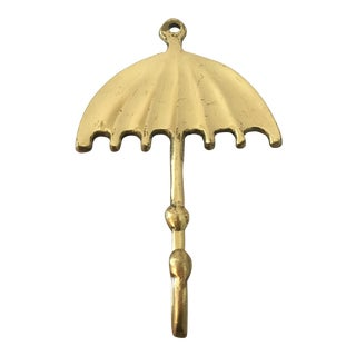 Vintage Brass Umbrella Hook For Sale