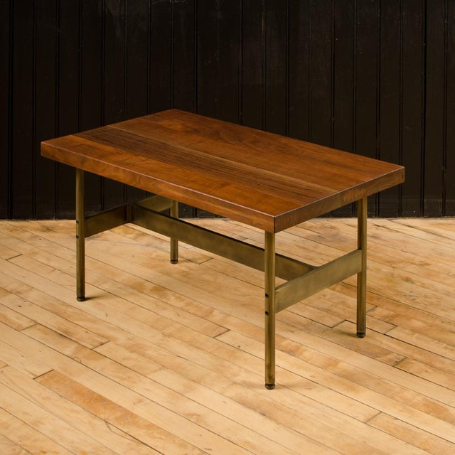 """A contemporary """"Terenia"""" walnut top console table, designed by Gratz Industries , 2019."""