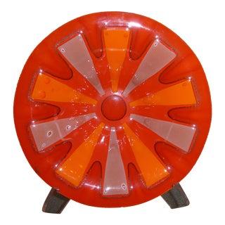 Michael & Frances Higgins Mid-Century Modern Fused Glass Bowl For Sale