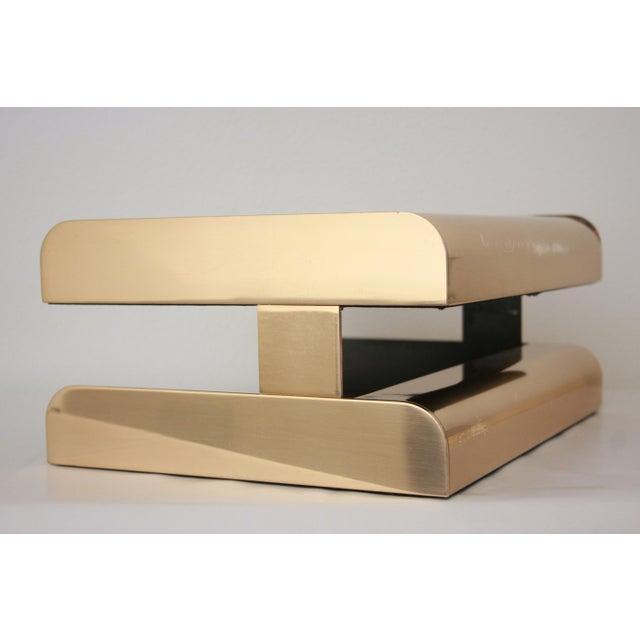 William Sklaroff Radius Two Brass Desk Tray For Sale In Dallas - Image 6 of 11