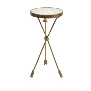 Arrow Marble Accent Table