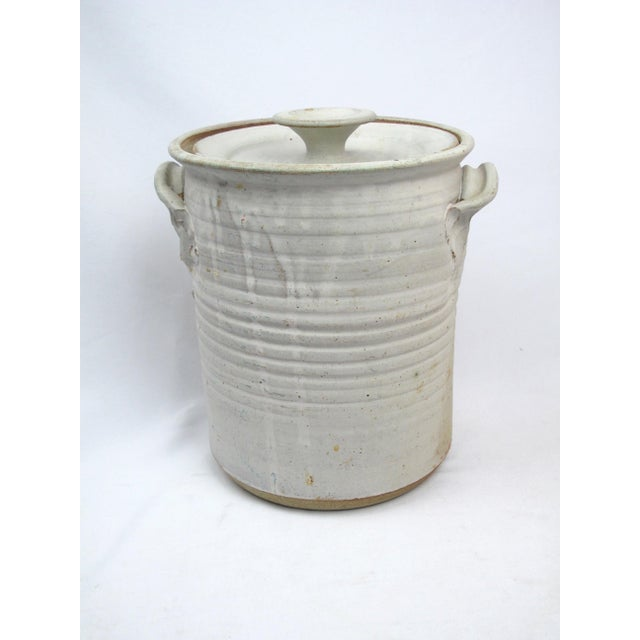 1970s Rustic Charles Gorrell Nw Coast Studio Pottery Lidded Cylinder Jar For Sale In Portland, OR - Image 6 of 6
