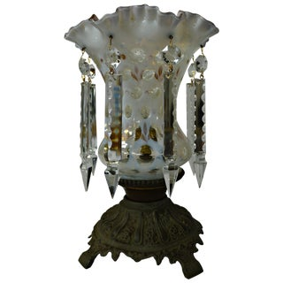 Hobnail Glass Hurricane Lamp With Tears
