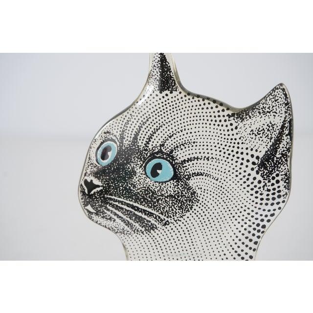 Late 20th Century Vintage Abraham Palatnik Op Art Brazilian Cat Figurine Blue Eyes For Sale - Image 5 of 8
