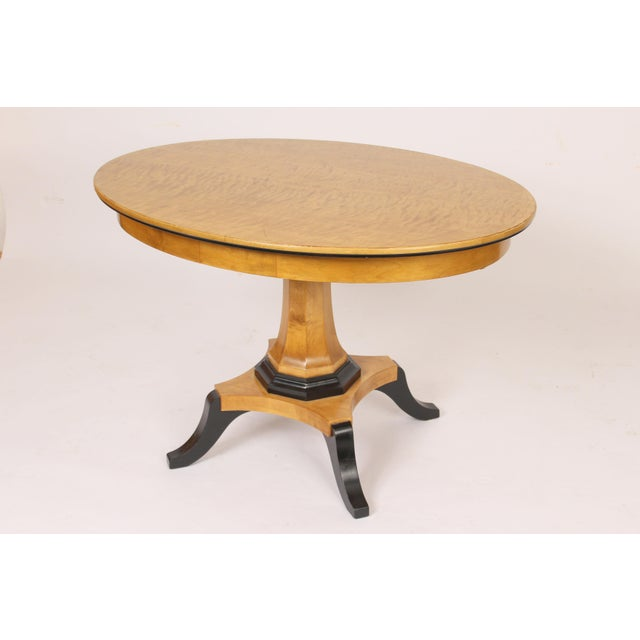Biedermeier Style Oval Occasional / Center Table For Sale - Image 4 of 11