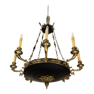 "French Empire Revival Style 8-Light 24"" Chandelier For Sale"