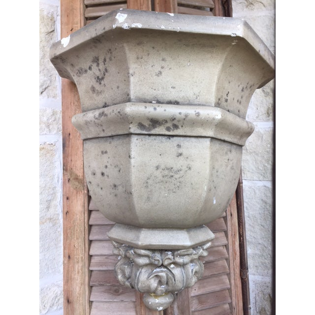 Vintage Cement Wall Planters - A Pair For Sale In Kansas City - Image 6 of 6