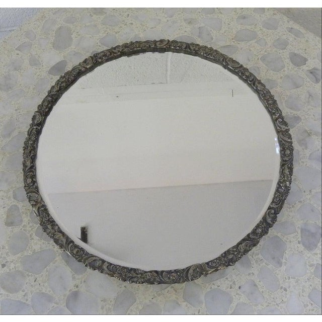 Vintage Mid Century Silver Mirror Dressing Vanity Tray For Sale In New York - Image 6 of 7