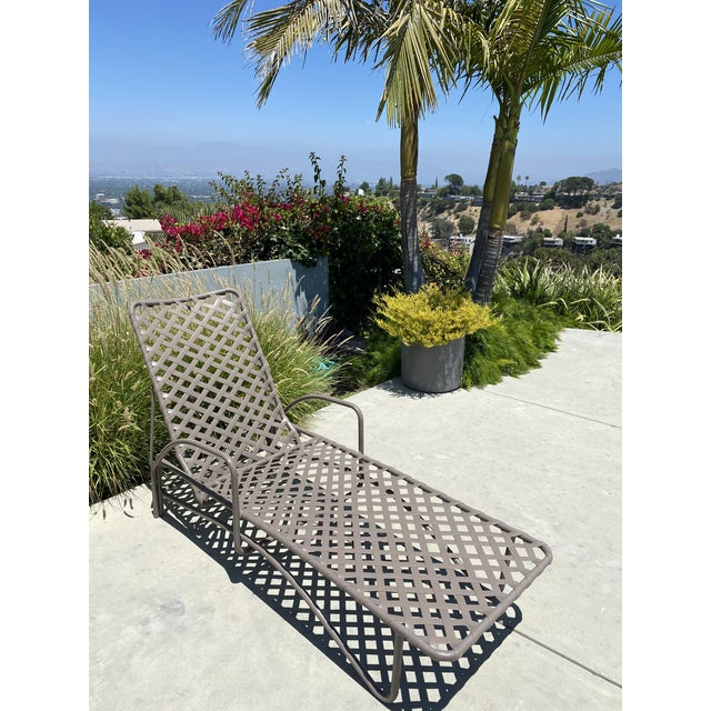 Coffee Vintage Brown Jordan Tamiami Chaise For Sale - Image 8 of 8