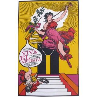 1974 Cuban Movie Poster, Viva El Artista (Hail the Artist)