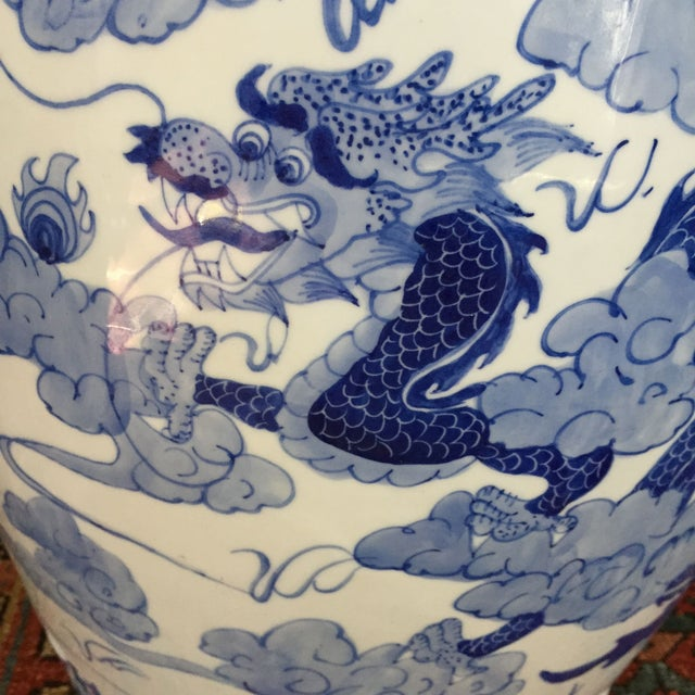 Large Chinoiserie Ceramic Garden Stool - Image 3 of 9