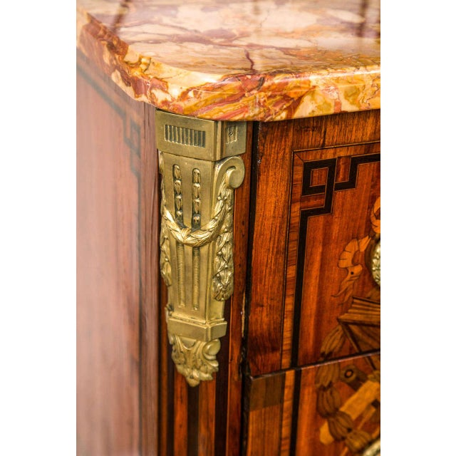 Mid 19th Century 19th Century French Marquetry Commode For Sale - Image 5 of 10