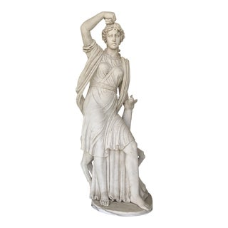 Diana Solid Marble Sculpture For Sale