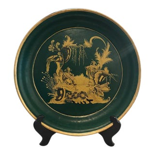 Chinoiserie Green Tole Tray