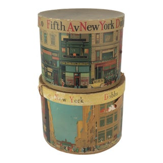 C.1940 Dobbs Fifth Ave Ny Hat Boxes, a Pair For Sale
