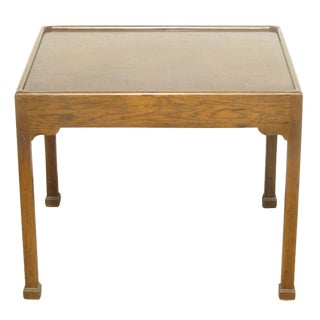 Mid-Century Accent Table W/ Parquetry Top For Sale