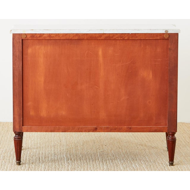 French Louis XVI Style Mahogany MarbleTop Commode Dresser For Sale - Image 12 of 13