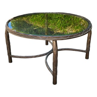 Vintage Maison Bagues Bronze French Art Deco Coffee Table For Sale