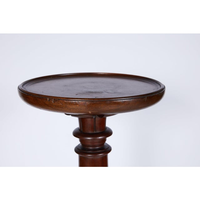Antique English Mahogany Torchere or Plant Stand For Sale - Image 11 of 13
