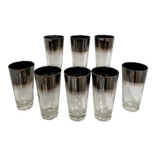 Mid Century Dorothy Thorpe Style Highball Cocktail Glasses - Set of 8 For Sale