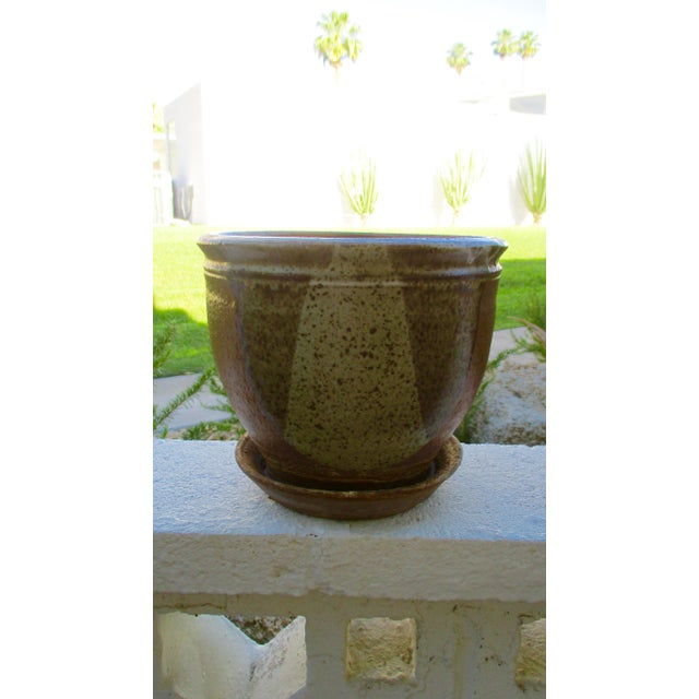 Robert Maxwell Style Glazed Planter For Sale - Image 4 of 9
