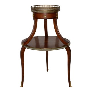1910s Two Tier Italian Mahogany & Marble Side Table For Sale